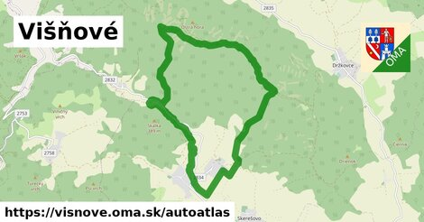 ikona Mapa autoatlas  visnove