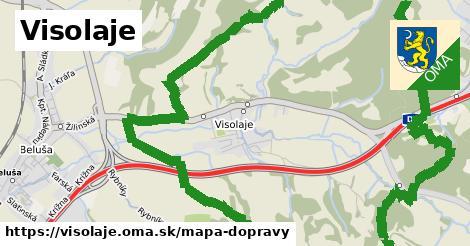 ikona Visolaje: 33km trás mapa-dopravy v visolaje