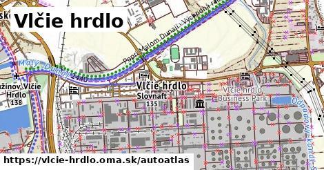 ikona Mapa autoatlas  vlcie-hrdlo
