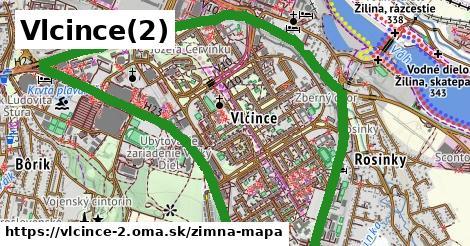 ikona Vlcince(2): 0m trás zimna-mapa v vlcince-2