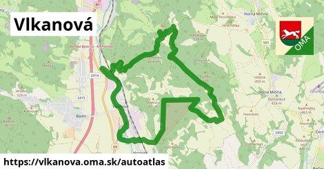 ikona Mapa autoatlas  vlkanova