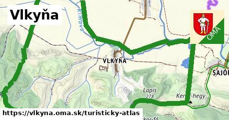 ikona Turistická mapa turisticky-atlas  vlkyna