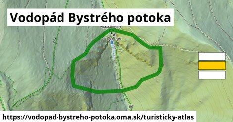 ikona Turistická mapa turisticky-atlas  vodopad-bystreho-potoka