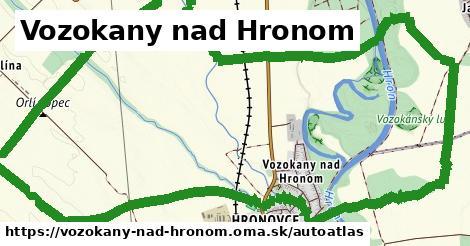 ikona Mapa autoatlas  vozokany-nad-hronom