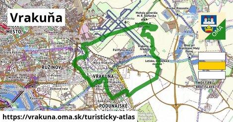 ikona Vrakuňa: 2,5km trás turisticky-atlas  vrakuna