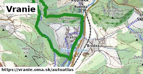 ikona Mapa autoatlas  vranie