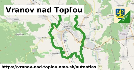 ikona Mapa autoatlas  vranov-nad-toplou