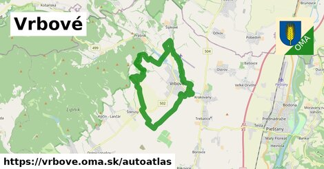ikona Mapa autoatlas  vrbove