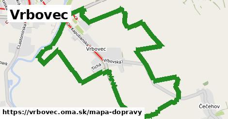 ikona Vrbovec: 27km trás mapa-dopravy v vrbovec
