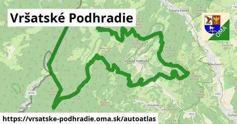ikona Mapa autoatlas  vrsatske-podhradie