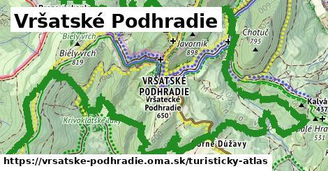 ikona Vršatské Podhradie: 26km trás turisticky-atlas  vrsatske-podhradie