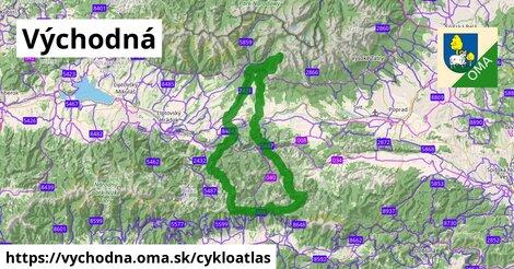ikona Východná: 53km trás cykloatlas  vychodna