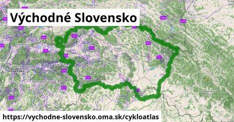 ikona Východné Slovensko: 3718km trás cykloatlas  vychodne-slovensko