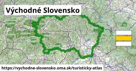 ikona Východné Slovensko: 7,13tisíckm trás turisticky-atlas  vychodne-slovensko