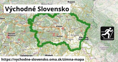ikona Východné Slovensko: 612km trás zimna-mapa  vychodne-slovensko