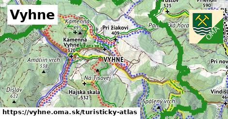 ikona Turistická mapa turisticky-atlas  vyhne
