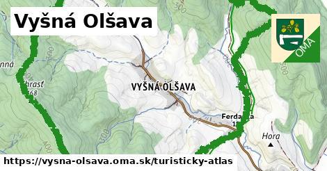 ikona Vyšná Olšava: 1,43km trás turisticky-atlas  vysna-olsava