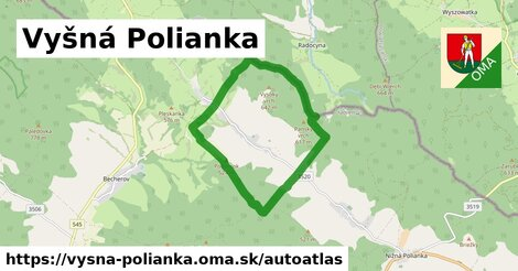 ikona Mapa autoatlas  vysna-polianka