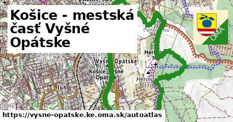 ikona Mapa autoatlas  vysne-opatske.ke