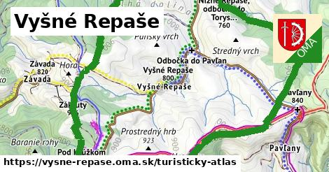 ikona Vyšné Repaše: 4,9km trás turisticky-atlas  vysne-repase