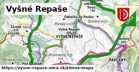 ikona Vyšné Repaše: 3,7km trás zimna-mapa  vysne-repase