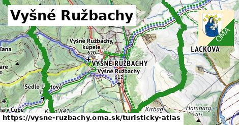 ikona Vyšné Ružbachy: 30km trás turisticky-atlas  vysne-ruzbachy