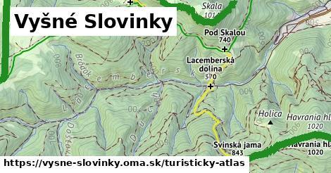 ikona Vyšné Slovinky: 19km trás turisticky-atlas  vysne-slovinky