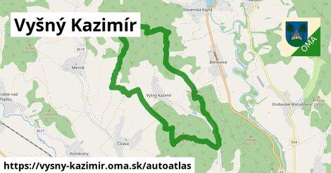 ikona Mapa autoatlas  vysny-kazimir