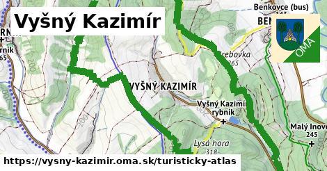 ikona Turistická mapa turisticky-atlas  vysny-kazimir
