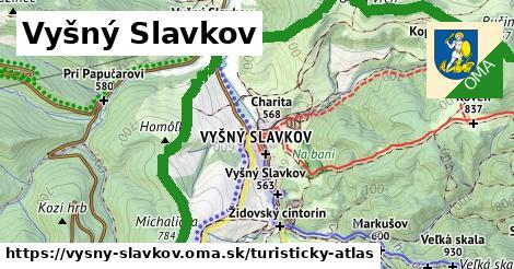 ikona Vyšný Slavkov: 24km trás turisticky-atlas  vysny-slavkov