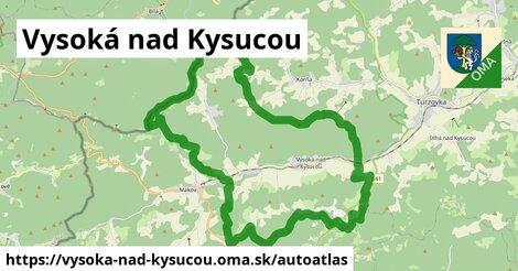 ikona Mapa autoatlas  vysoka-nad-kysucou