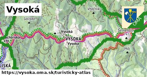 ikona Turistická mapa turisticky-atlas v vysoka