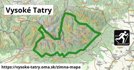ikona Vysoké Tatry: 8,0km trás zimna-mapa  vysoke-tatry