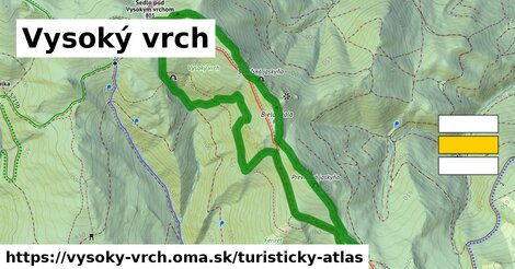 ikona Turistická mapa turisticky-atlas  vysoky-vrch
