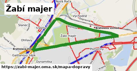 ikona Žabí majer: 57km trás mapa-dopravy v zabi-majer