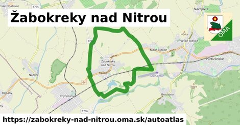 ikona Mapa autoatlas  zabokreky-nad-nitrou