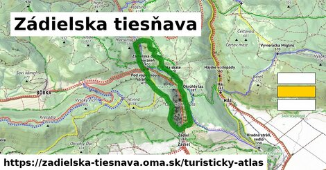ikona Zádielska tiesňava: 11,5km trás turisticky-atlas  zadielska-tiesnava