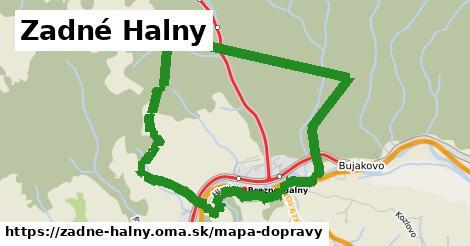 ikona Zadné Halny: 9,2km trás mapa-dopravy v zadne-halny