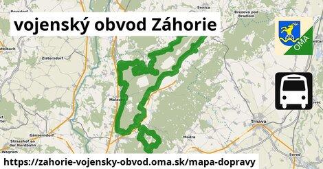 ikona Mapa dopravy mapa-dopravy  zahorie-vojensky-obvod