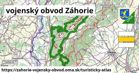 ikona Turistická mapa turisticky-atlas  zahorie-vojensky-obvod