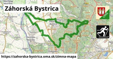 ikona Záhorská Bystrica: 5,5km trás zimna-mapa  zahorska-bystrica