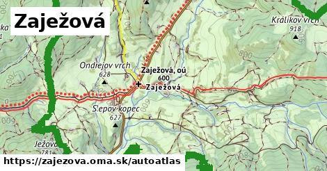 ikona Mapa autoatlas  zajezova