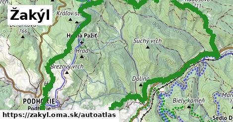 ikona Mapa autoatlas  zakyl