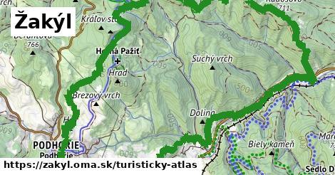 ikona Žakýl: 3,8km trás turisticky-atlas  zakyl