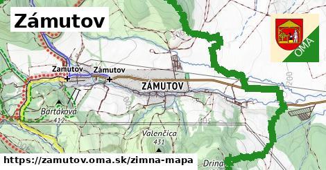 ikona Zámutov: 3,9km trás zimna-mapa  zamutov