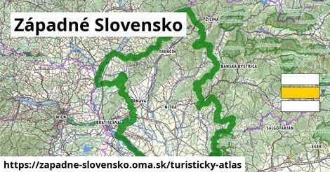 ikona Západné Slovensko: 254km trás turisticky-atlas  zapadne-slovensko