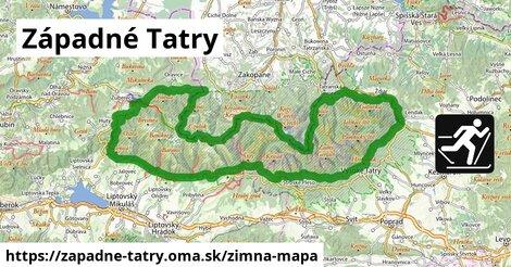ikona Západné Tatry: 40km trás zimna-mapa  zapadne-tatry