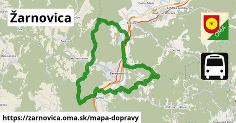 ikona Žarnovica: 25km trás mapa-dopravy v zarnovica