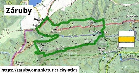 ikona Záruby: 12,7km trás turisticky-atlas  zaruby