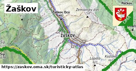 ikona Žaškov: 4,8km trás turisticky-atlas  zaskov